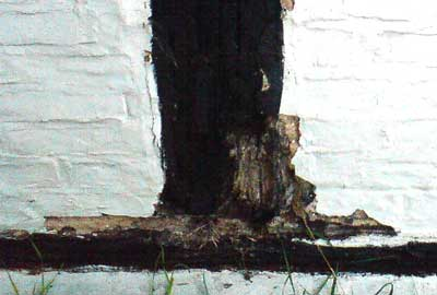 Timber Framed House with decay in the frame - ideal for repairing with PRS Ultra Wood Hardener and Mouldable Epoxy Putty