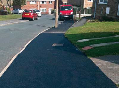 Tarmac path coated with Driveway Restorer